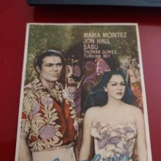 Cine: FOLLETO DE MANO LA SALVAJE BLANCA . MARIA MONTEZ , 1948. Lote 276183248