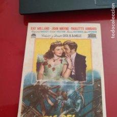 Cine: FOLLETO DE MANO PIRATAS DEL MAR CARIBE , RAY MILLAND ,1949. Lote 276183538