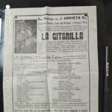 Cine: RARO PROGRAMA LA GITANILLA, ESTRELLITA CASTRO. Lote 276227623
