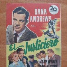 Cine: PROGRAMA DE MANO : EL JUSTICIERO. Lote 276242888
