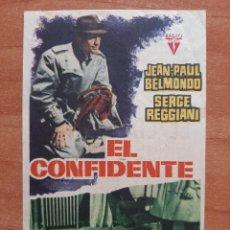 Cine: PROGRAMA DE MANO :EL CONFIDENTE / JEAN PAUL BELMONDO. Lote 276243628