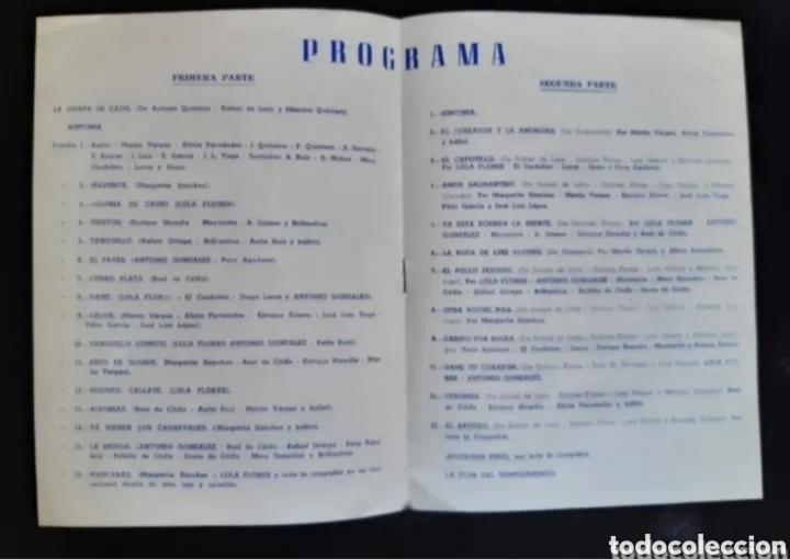 Cine: Programa de teatro de LOLA FLORES. Años 60. ROGAMOS LEER BIEN LA DESCRIPCIÓN ANTES DE PUJAR. - Foto 3 - 276262293
