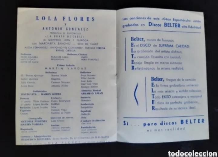 Cine: Programa de teatro de LOLA FLORES. Años 60. ROGAMOS LEER BIEN LA DESCRIPCIÓN ANTES DE PUJAR. - Foto 4 - 276262293