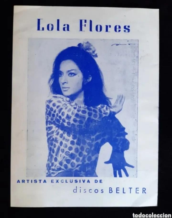 Cine: Programa de teatro de LOLA FLORES. Años 60. ROGAMOS LEER BIEN LA DESCRIPCIÓN ANTES DE PUJAR. - Foto 5 - 276262293