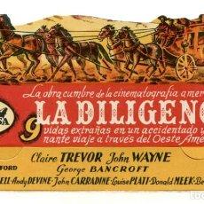 Flyers Publicitaires de films Anciens: LA DILIGENCIA, CON JOHN WAYNE.. Lote 276416728
