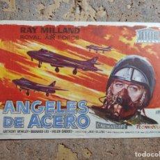 Cine: FOLLETO DE MANO DE LA PELICULA ANGELES DE ACERO CON PUBLICIDAD. Lote 276453108