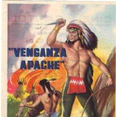 Cine: PN - PROGRAMA DE CINE - VENGANZA APACHE - MAURICIO GARCÉS, ABEL ZALAZAR - CINE DUQUE (MÁLAGA) - 1960. Lote 276464338