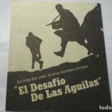 Cine: PROGRAMA DOBLE EL DESAFIO DE LAS AGUILAS-RICHARD BURTON. Lote 276495498
