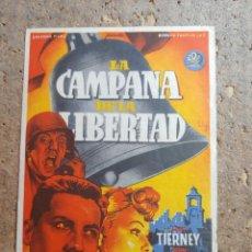 Cine: FOLLETO DE MANO DE LA PELICULA LA CAMPANA DE LA LIBERTAD. Lote 276697498
