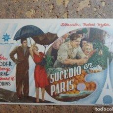 Folhetos de mão de filmes antigos de cinema: FOLLETO DE MANO DE LA PELICULA SUCEDIO EN PARIS. Lote 276702098