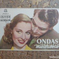 Flyers Publicitaires de films Anciens: FOLLETO DE MANO DE LA PELICULA ONDAS MISTERIOSAS. Lote 276704688