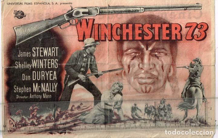 """50´S. """"WINCHESTER 73"""" JAMES STEWART SHELLEY WINTERS DAN DURYEA STEPHEN MCNALLY DIRECTOR ANTHONY MANN (Cine - Folletos de Mano - Westerns)"""