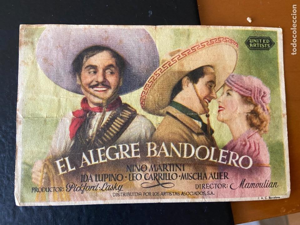 EL ALEGRE BANDOLERO (Cine - Folletos de Mano - Comedia)
