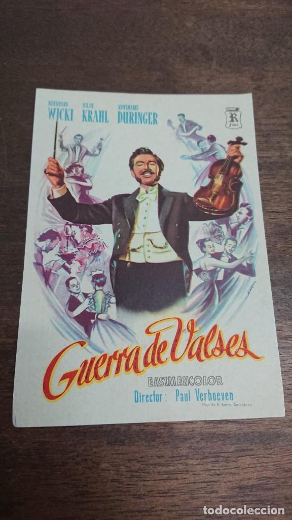 GUERRA DE VALSES - SIMPLE SIN PUBLICIDAD - BUEN ESTADO (Cine - Folletos de Mano - Acción)