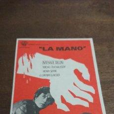 """Cine: """"LA MANO"""" - SIMPLE SIN PUBLICIDAD - BUEN ESTADO. Lote 276911863"""