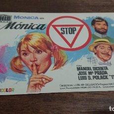 Cine: MÓNICA STOP - SIMPLE SIN PUBLICIDAD - BUEN ESTADO. Lote 276913303