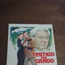 Cine: TESTIGO DE CARGO - SIMPLE SIN PUBLICIDAD - BUEN ESTADO. Lote 276914308