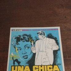 Cine: UNA CHICA EN EL DESVAN - SIMPLE SIN PUBLICIDAD - BUEN ESTADO. Lote 276915243