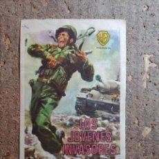 Cine: FOLLETO DE MANO DE LA PELICULA LOS JOVENES INVASORES CON PUBLICIDAD. Lote 276916083
