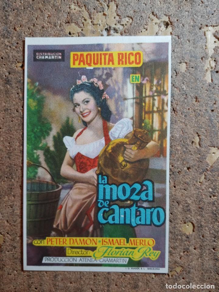 FOLLETO DE MANO DE LA PELICULA LA MOZA DE CANTARO CON PUBLICIDAD (Cine - Folletos de Mano - Clásico Español)