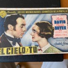 Cine: EL CIELO Y TU. Lote 276922898