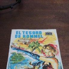 Cine: EL TESORO DE ROMMEL - SIMPLE SIN PUBLICIDAD - BUEN ESTADO. Lote 276923878