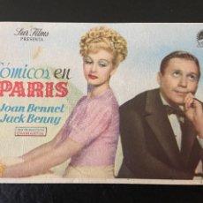 Cine: COMICOS EN PARIS. Lote 276924453