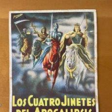 Folhetos de mão de filmes antigos de cinema: LOS CUATRO JINETES DE LA APOCALIPSIS. Lote 276927918