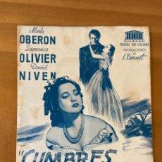 Cine: CUMBRES BORRASCOSAS CON PUBLICIDAD. Lote 276928663