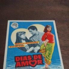 Cine: DIAS DE AMOR - SIMPLE SIN PUBLICIDAD - BUEN ESTADO. Lote 276931828