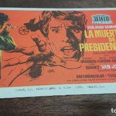 Cine: LA MUERTE DE UN PRESIDENTE (DALLAS STORY) - SIMPLE SIN PUBLICIDAD - BUEN ESTADO. Lote 276932843