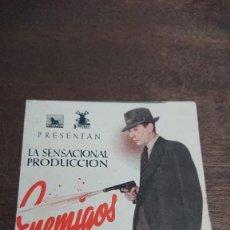 Cine: ENEMIGOS - DOBLE SIN PUBLICIDAD - BUEN ESTADO. Lote 276934888