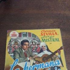 Cine: LA HERMANA SAN SULPICIO - DOBLE SIN PUBLICIDAD - BUEN ESTADO. Lote 276935853