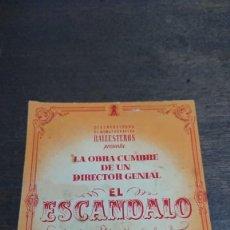 Cine: EL ESCANDALO - DOBLE SIN PUBLICIDAD - BUEN ESTADO. Lote 276936628