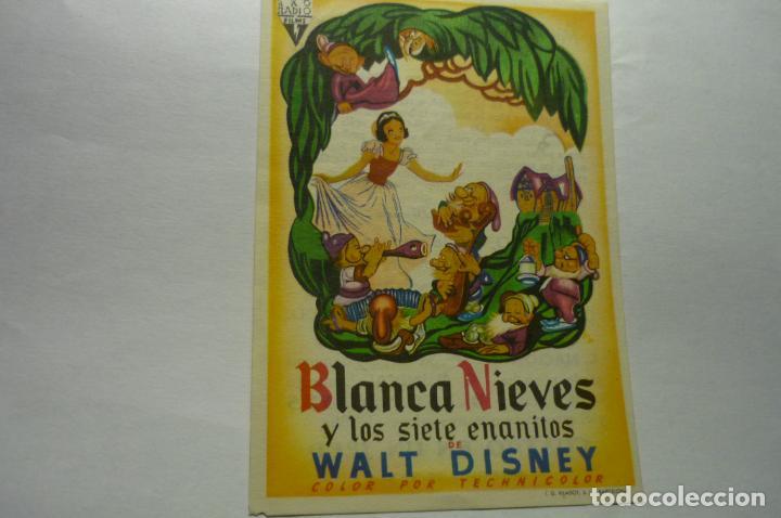 PROGRAMA BLANCANIEVES Y LOS SIETE ENANITOS DISNEY PUBLICIDAD (Cine - Folletos de Mano - Infantil)