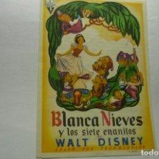 Cine: PROGRAMA BLANCANIEVES Y LOS SIETE ENANITOS DISNEY PUBLICIDAD. Lote 276975448