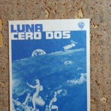 Cine: FOLLETO DE MANO DE LA PELICULA LUNA CERO DOS. Lote 276992723