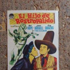 Flyers Publicitaires de films Anciens: FOLLETO DE MANO DE LA PELICULA EL HIJO DE ROSTRO PALIDO. Lote 276995868