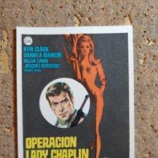 Cine: FOLLETO DE MANO DE LA PELICULA OPERACION LADY CHAPLIN. Lote 276996908