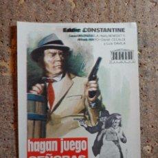 Cine: FOLLETO DE MANO DE LA PELICULA HAGAN JUEGO SEÑORAS. Lote 276997493