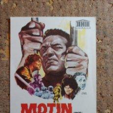 Cine: FOLLETO DE MANO DE LA PELICULA MOTIN. Lote 276997863