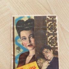 Cine: FOLLETO DE MANO ; SANGRE SOBRE EL SOL ; 1947 ; JAMES CAGNEY. Lote 277049263