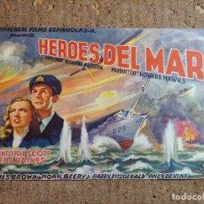 Cine: FOLLETO DE MANO GIGANTE DE LA PELICULA HEROES DEL MAR. Lote 277049858