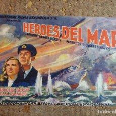 Cine: FOLLETO DE MANO GIGANTE DE LA PELICULA HEROES DEL MAR. Lote 277049913