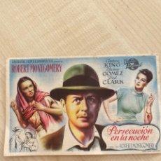Cine: FOLLETO DE MANO ; PERSECUCIÓN EN LA NOCHE ; 1949 ; ROBERT MONTGOMERY. Lote 277051163
