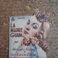 Cine: FOLLETO DE MANO DOBLE TROQUELADO DE LA PELICULA LA MADRE GUAPA. Lote 277068028