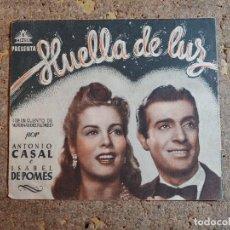 Cine: FOLLETO DE MANO DOBLE DE LA PELICULA HUELLA DE LUZ. Lote 277068568