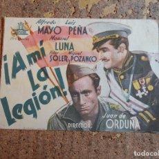 Cine: FOLLETO DE MANO DOBLE DE LA PELICULA A MI LA LEGION. Lote 277069128
