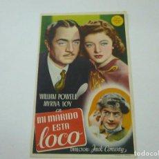 Cine: MI MARIDO ESTA LOCO-CON PUBLICIDAD - C 10. Lote 277070058