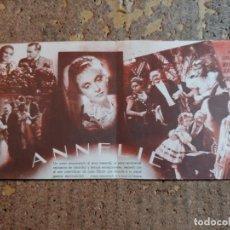 Cine: FOLLETO DE MANO DOBLE DE LA PELICULA ANNELIE. Lote 277070143